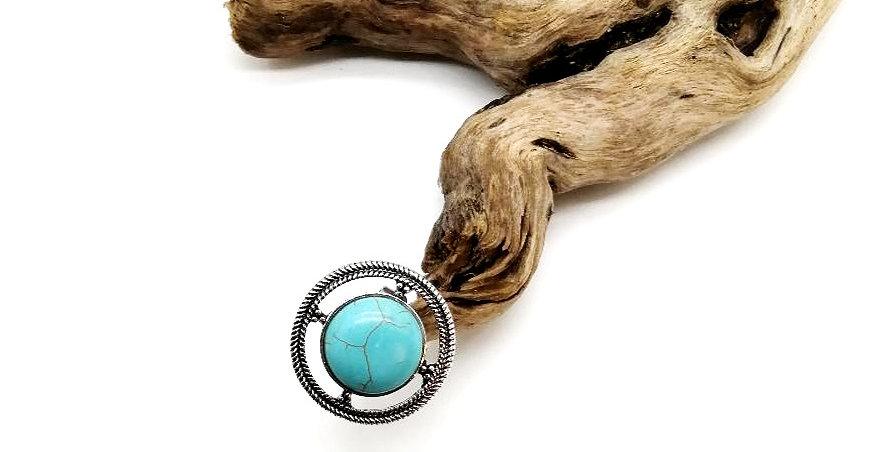 Bague Design ronde Turquoise