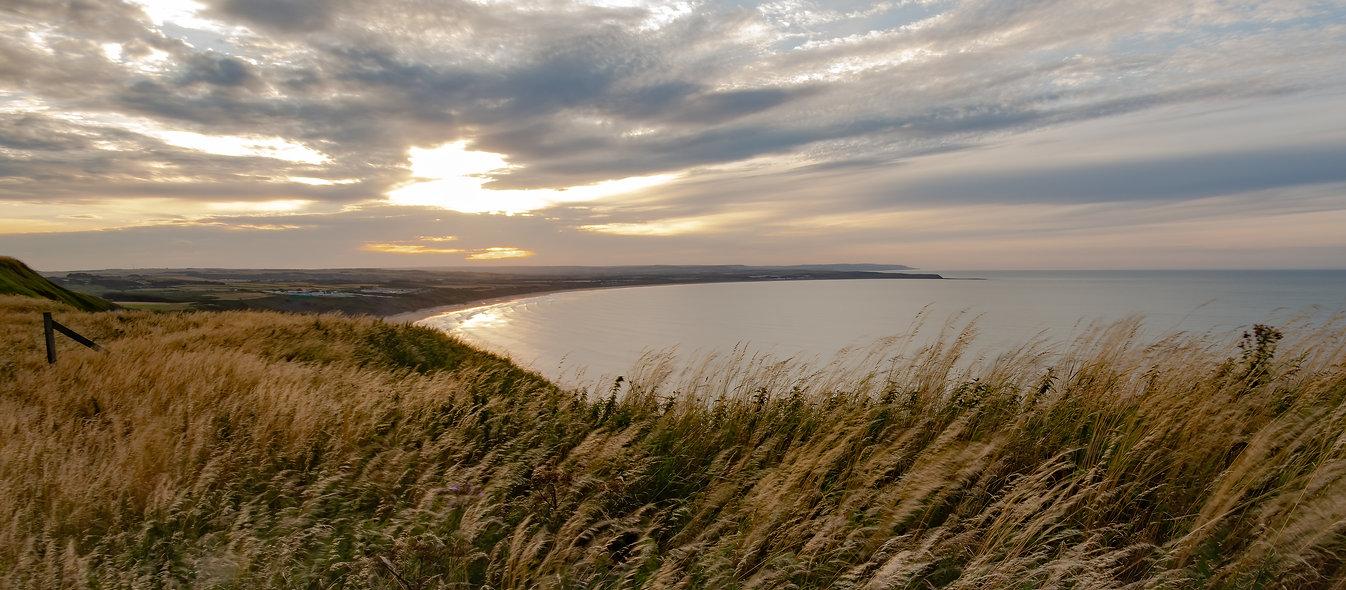 Filey Bay at sunset