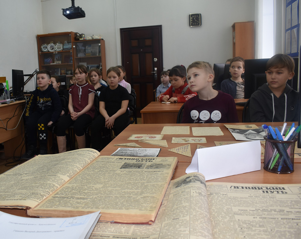 Обучающиеся 3 класса школы № 1 г. Красноуфимска (кл. рук. Тульнова Л.А.) в архиве