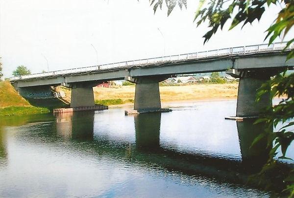 Железобетонный мост через р. Уфу в Красн