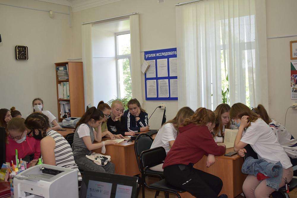 Студенты педколледжа в архиве