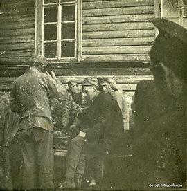 Пленные австрийцы, фото Д.В. Садовникова, начало XX века