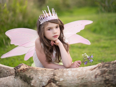 Day Dreaming Fairy Princess - A before & after edit.