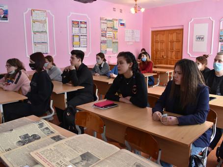 Встреча архивистов со студентами многопрофильного техникума