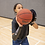 Aligns shot elbow & hand under the ball for life & a sturdy straight line into basket