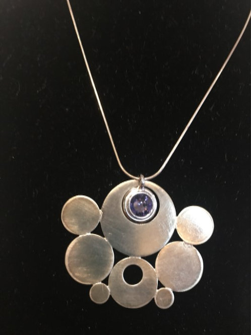 Sterling and Crystal Art Jewelry by Terry Mullen #2388