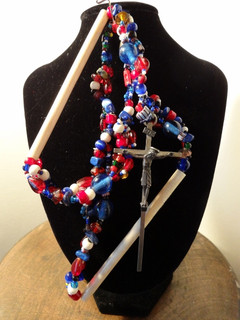 """17"""" Mixed bead and Elk Bone Necklace"""