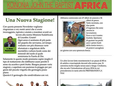 Lourdes Mission, Newsletter #8 - ita