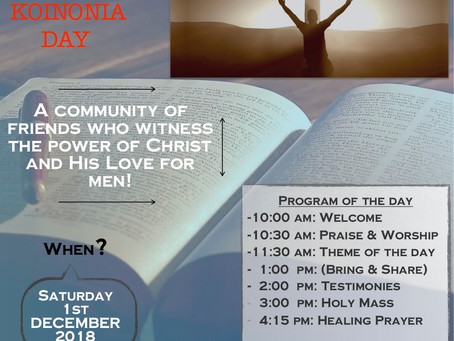 Koinonia day in Durban, December