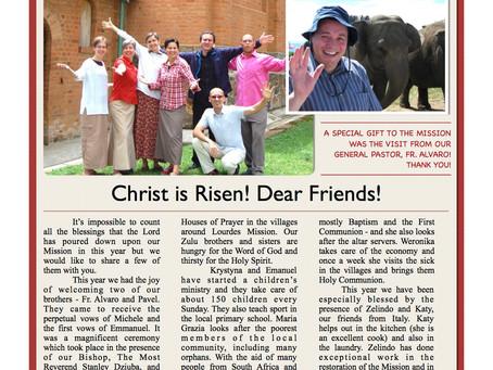 Lourdes Mission, Newsletter #7