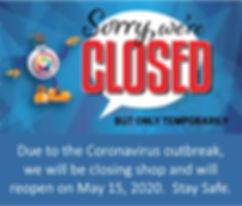 Corona Virus temp closure sign for websi