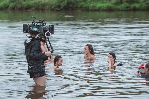 Camera crew and actors
