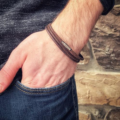 Men's Triple Wrap Leather Bracelet