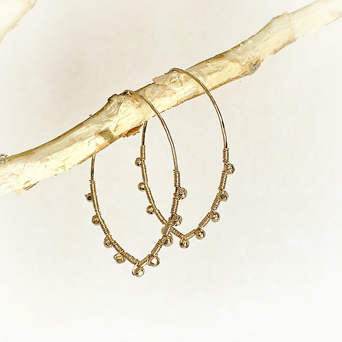 WIRE WRAPPED LOTUS HOOPS