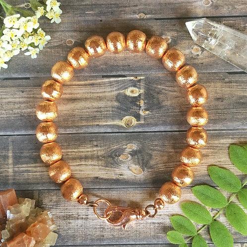 Copper Beaded Bracelet