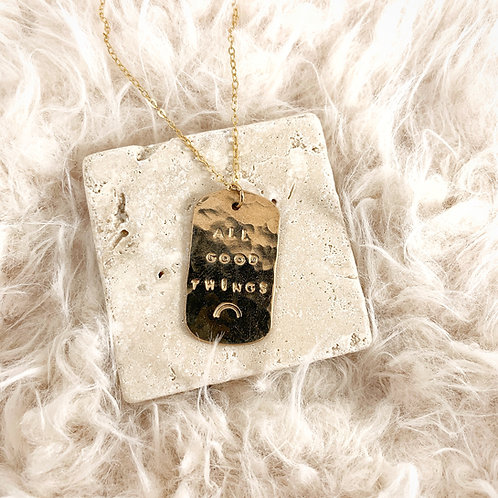 -CUSTOM DOG TAG NECKLACE-