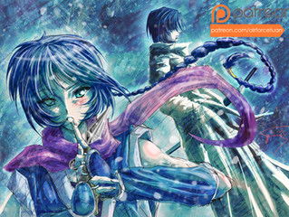 "【Fanart】""Cold World"" (Misao & Aoshi of Rurouni Kenshin)"