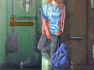 "【Fanart】""Pose"" (Asuka of Evangelion)"