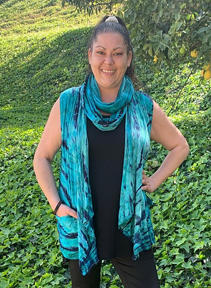 S 200 Turquoise Teal Infinity Scarf