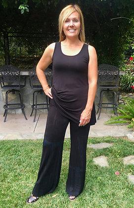 P 639 Black Marble Boho Pants