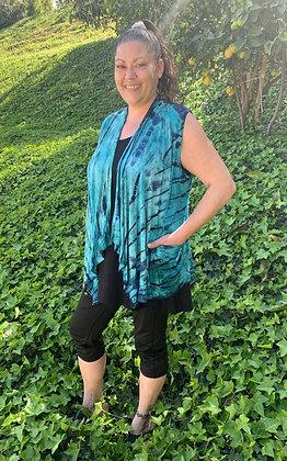 V 651 Turquoise Teal Pocket Vest