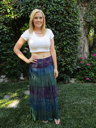 Skirt 613 Teal Blue & Purple W/Black