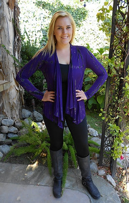 C 214 Bright Purple W/Black Sale XS S M