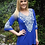Thumbnail: T 400 Royal Blue W/Stitch Tunic Top