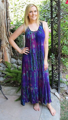 D 089 Multi Purple Lace Back Maxi Dress S M only