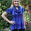 Thumbnail: T 415 Cotton Multi Blue Tunic, S M L