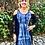 Thumbnail: D202 Black & White Lace Sleeve Open Shoulder Dress