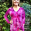 Thumbnail: T 542  Fuchsia Purple Split Bottom Tunic