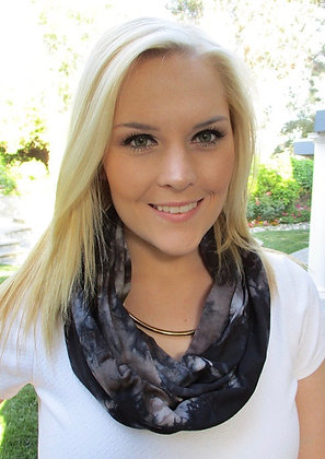 S 105 Black Brown Infinity Dyed Scarf