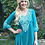 Thumbnail: T 435 Jade Green Tunic W/White Stitch S only