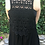 Thumbnail: V 281 Solid Black Crochet Back Vest