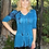 Thumbnail: T 269 Turquoise Teal with Black  V Neck