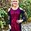 Thumbnail: D 203 Red & Black Lace Sleeve Open Shoulder Dress