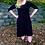 Thumbnail: D 209 Solid Black Below Knee Dress