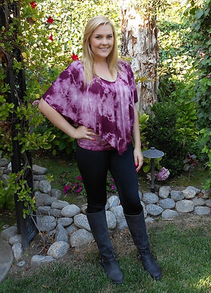 T 338 Shades of Wine Poncho XL 2X 3X only
