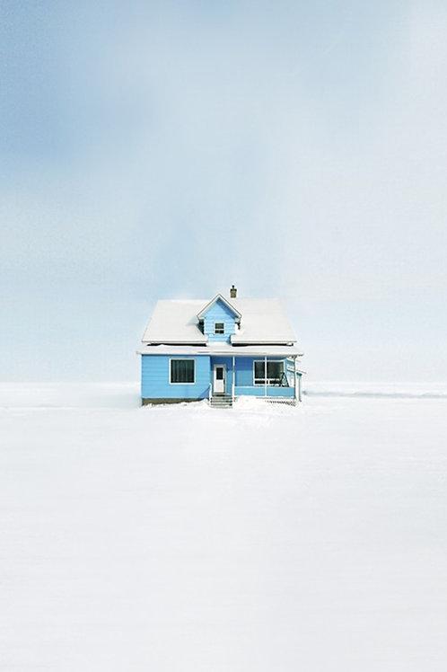 Vivid blue house