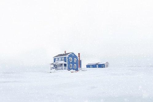 Dark blue house