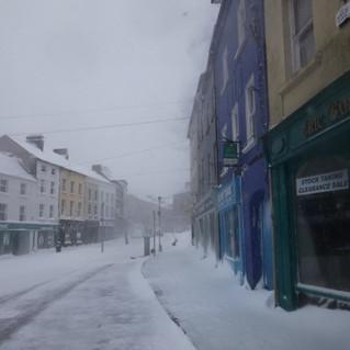 Enniscorthy on a snowy winters day
