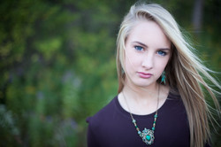 one-of-a-kind green crest necklace