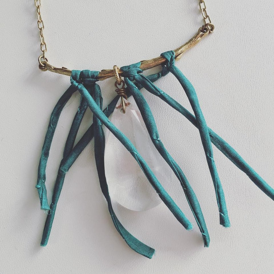 silk branch necklace
