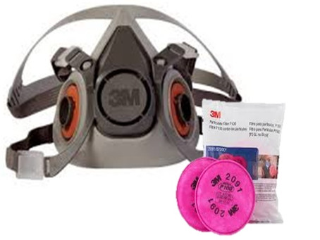 3M Half Face Respirator and 2091/97 Cartridge now available.  Mask:$150               Cartridge:$150