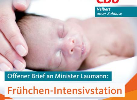 Offener Brief an Gesundheitsminister Laumann zur Schließung der Frühgeborenen Station