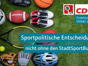 Sportpolitische Entscheidungen nicht ohne den StadtSportBund Velbert e.V.