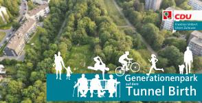 Generationenpark als große Freizeitfläche auf dem Tunnel Birth