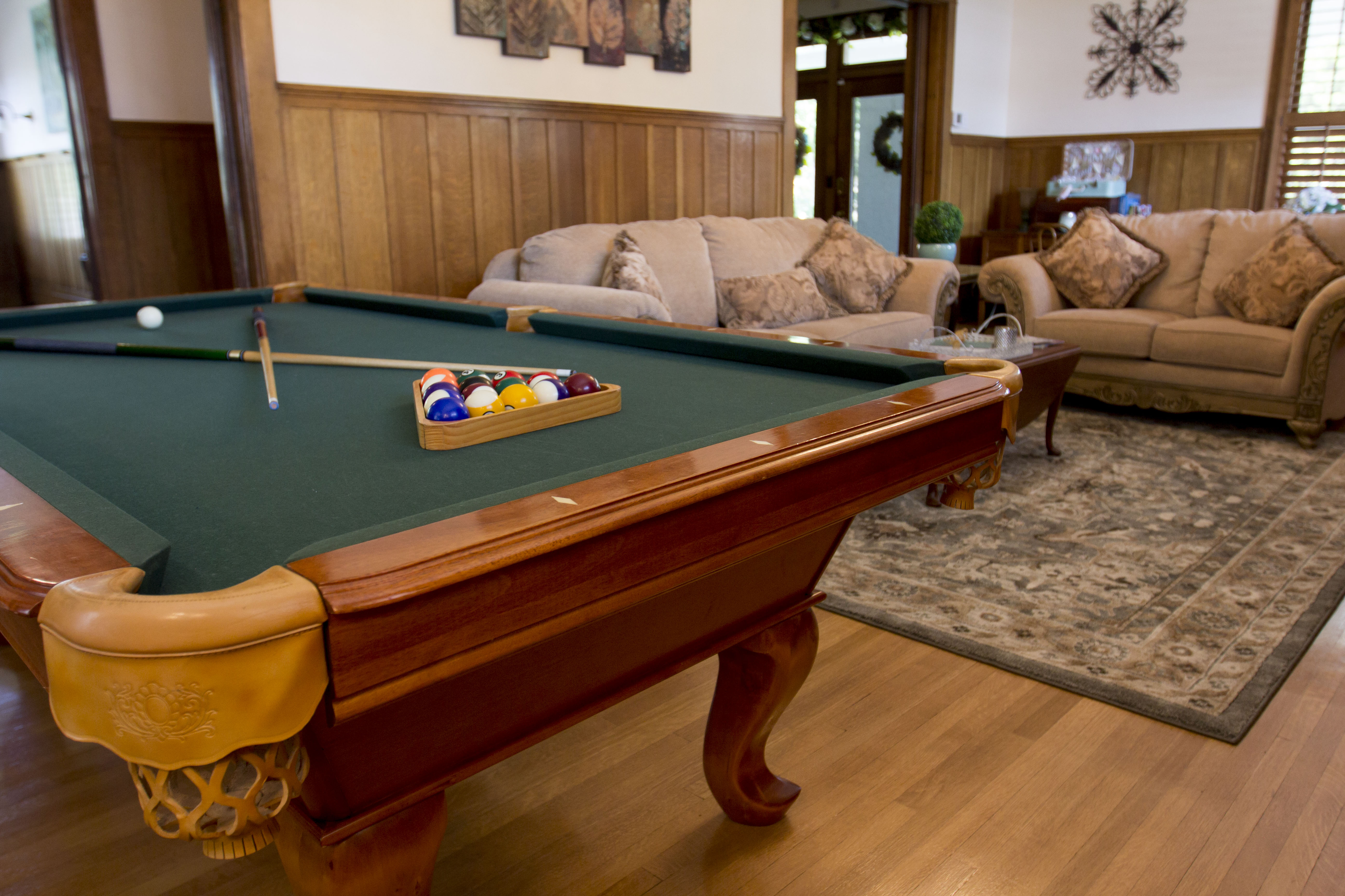 Pool Table & Living Room
