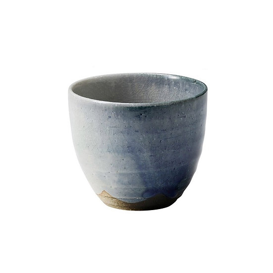 Shigaraki Ware Hechimon Navy Blue Tea Cup